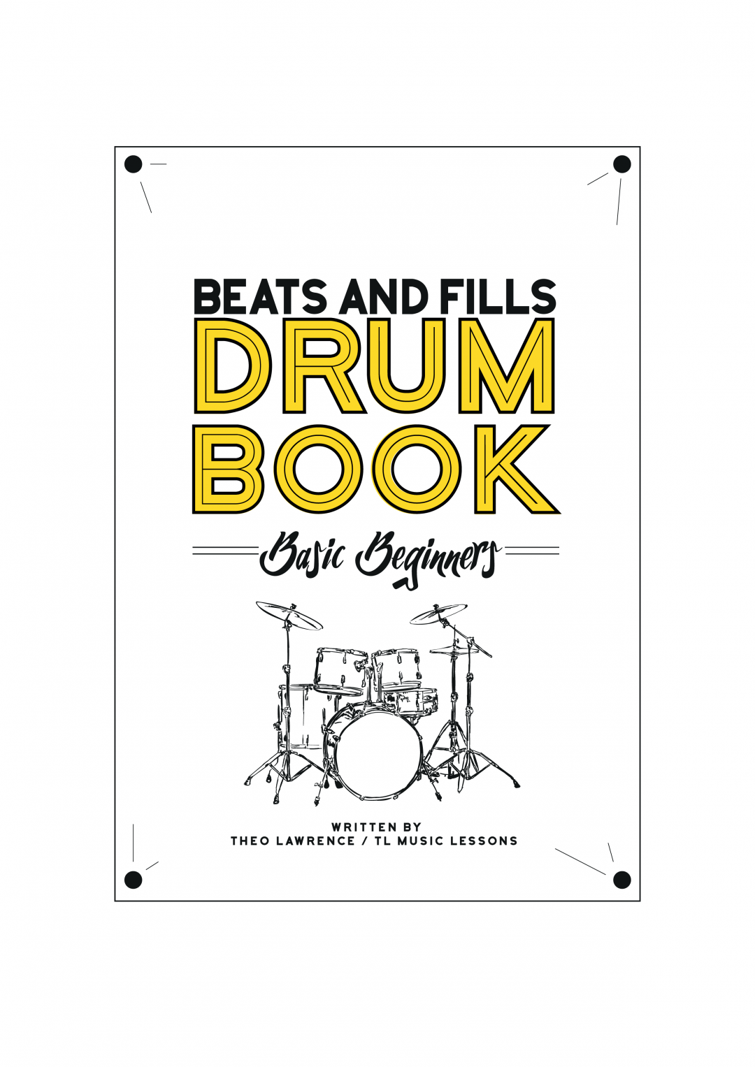 (Premium) – Beats and Fills Drum Book – Basic Beginners – PDF Ebook