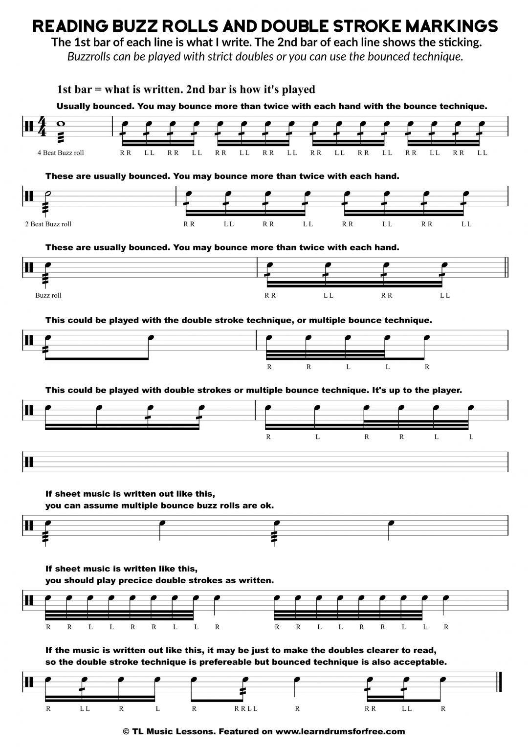 image regarding Free Printable Drum Sheet Music known as snare drum sheet songs Study Drums For Totally free