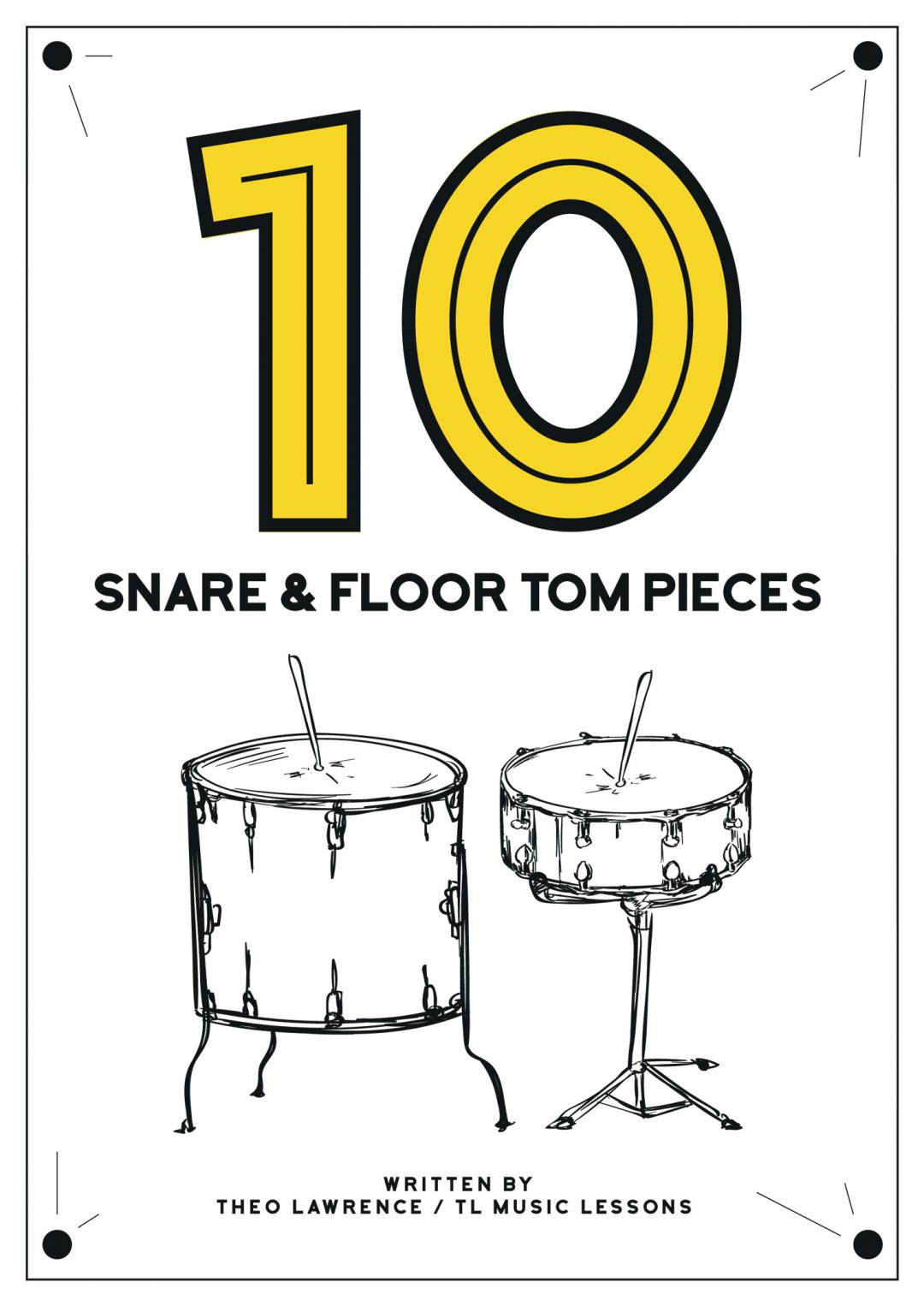 (Premium) – 10 Snare Drum and Floor Tom Pieces – Book 1