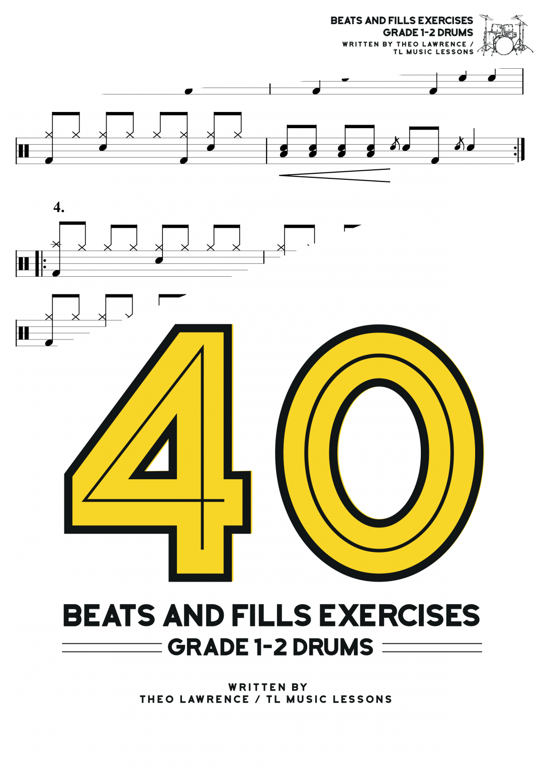 [Premium] – 40 Beats and Fills Exercises Ebook