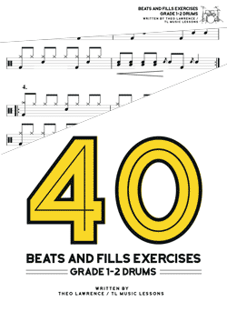 40 beats fills exercises learn drums for free