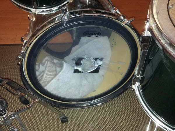 What happens when you opt for gaffa tape instead of bass drum impact pads