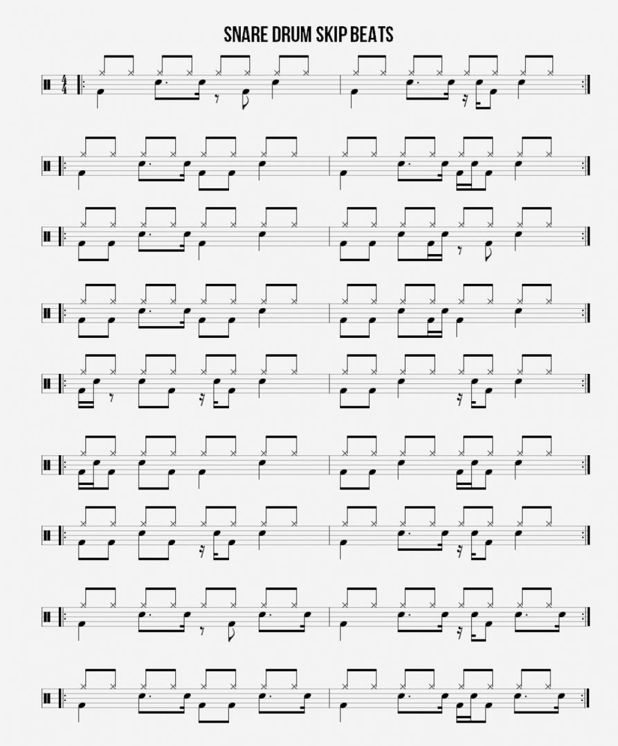 Snare Drum Skip Beats