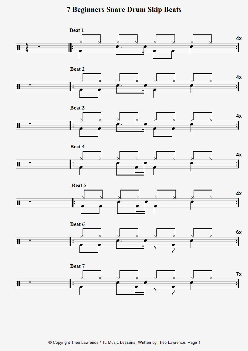 Beginners snare skip beats