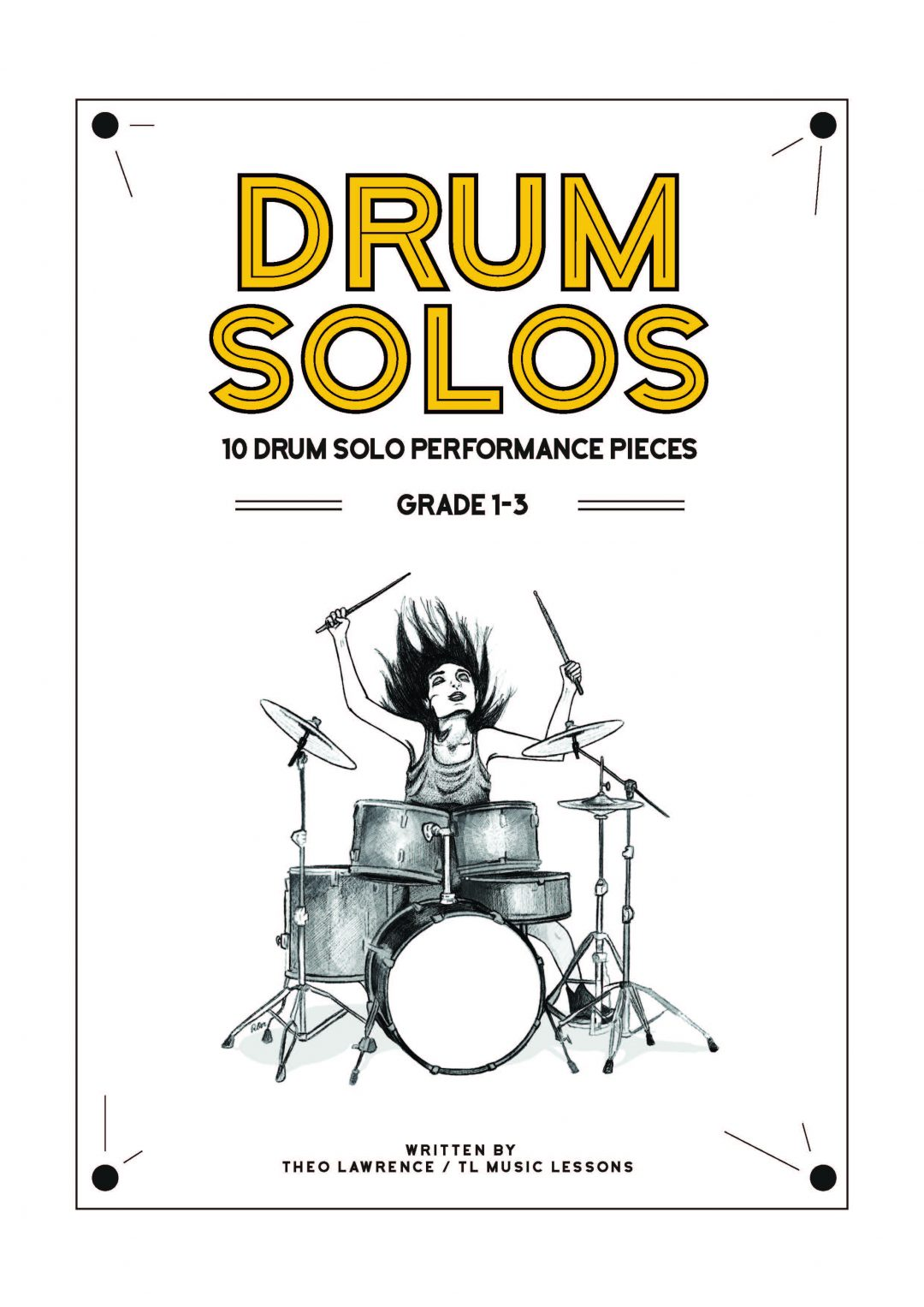 (Premium) – Drum Book PDF – 10 drum solo performance pieces grade 1-3