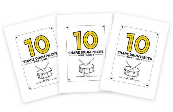 (Premium) – 10 Snare Drum Pieces – Book 1 – Levels 1-3 (PDF ebooks)
