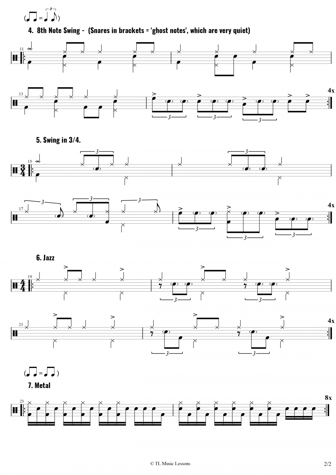 Intermediate Drum Warm-Up – Part 2