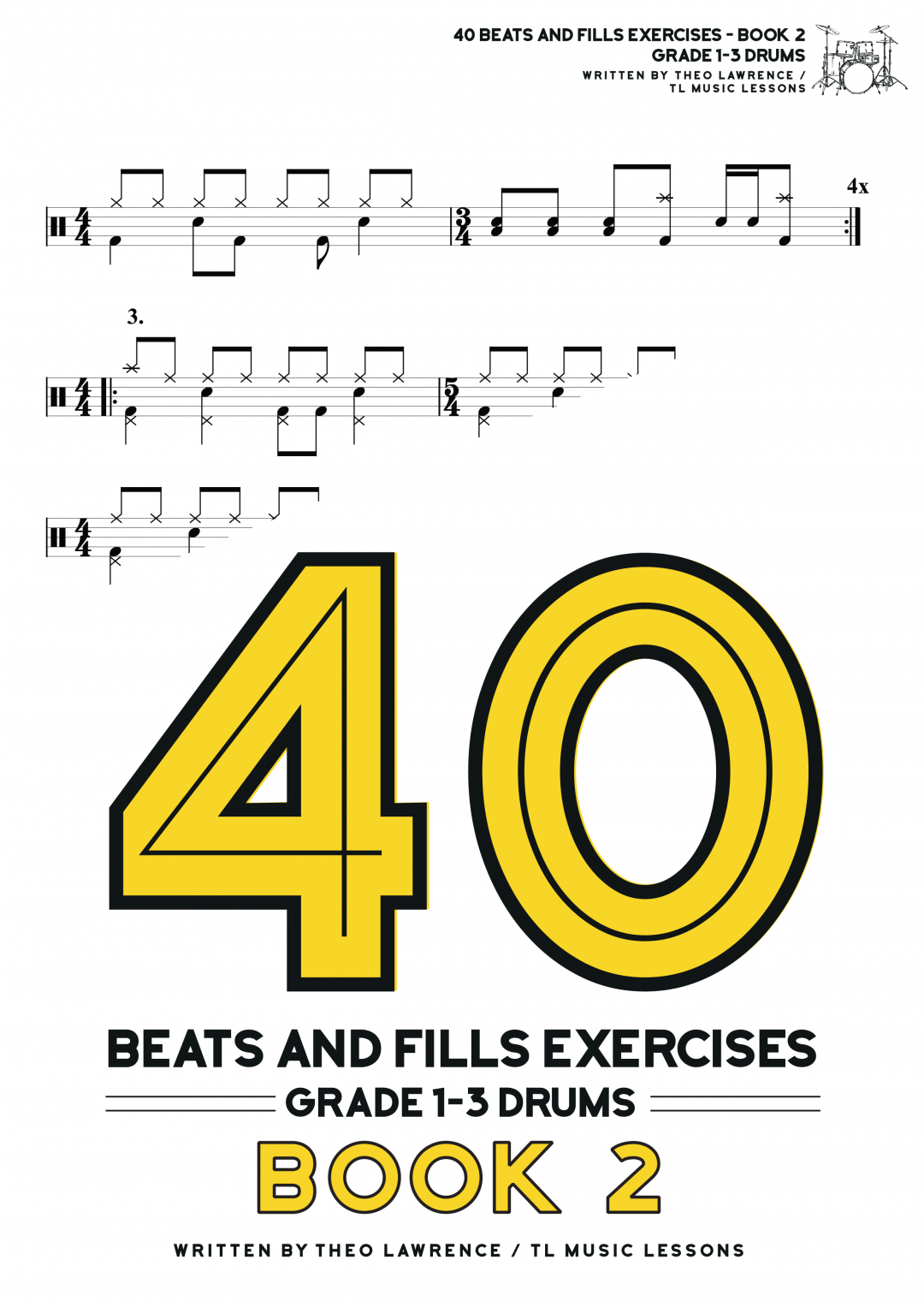 40 Beats and Fills Exercises Book 2