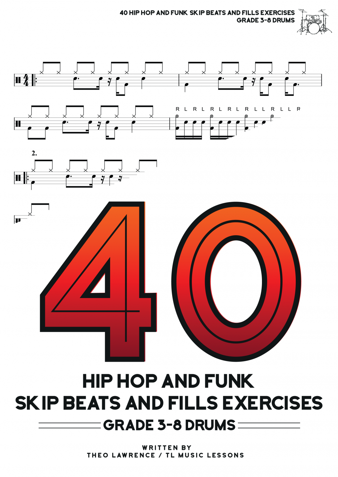 40 Hip Hop and Funk Skip Beats and Fills Exercises ebook – Grades 3-8