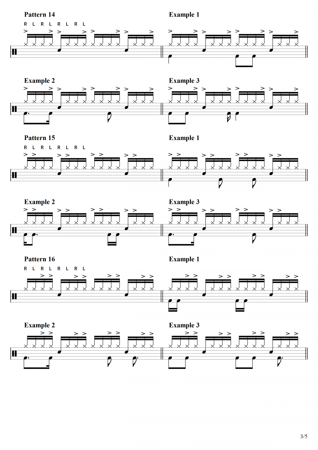 Page 3 – 25 Hi Hat Patterns with drum beat examples